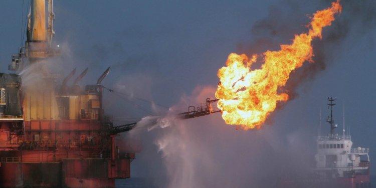 A platform burns off excess