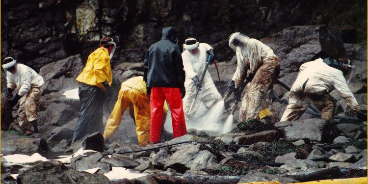 Exxon Valdez Oil Spill Clean-Up -- Kenai Peninsula/Gulf of Alaska July 1989