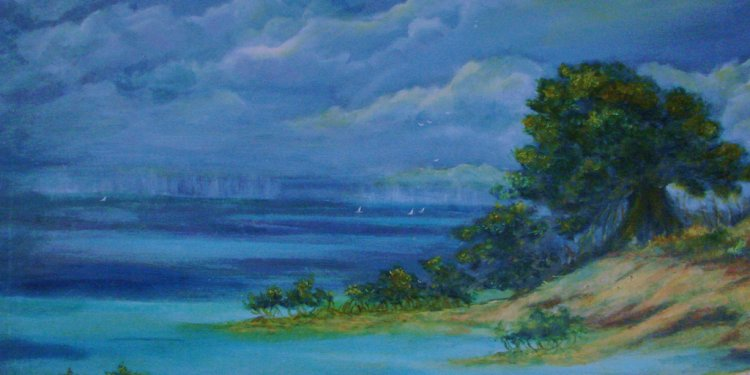 Key West Storm Approaching by Phyllis OShields Original Oil