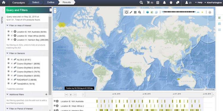 Satellites for oil spills
