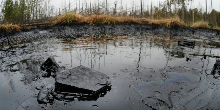 Up Oil Spill in Sakhalin