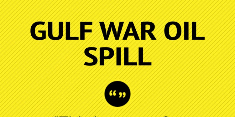 Gulf War oil spill cleanup