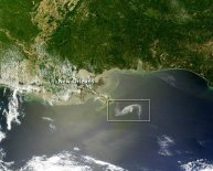 Oil spill from space
