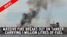 movie thumbnail, huge fire breaks on tanker holding 1 million litres of fuel